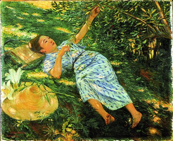 黒田清輝「木かげ」1989 年 画像提供:おぶせミュージアム・中島千波館