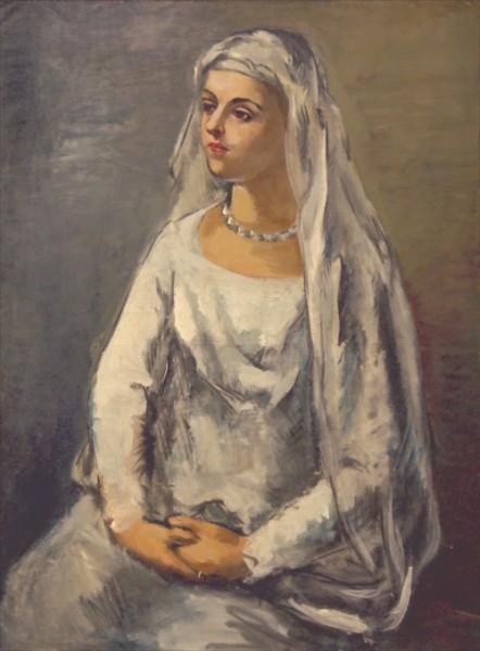 《白装の娘》(1927年)八ヶ岳美術館蔵