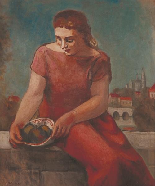 《果物籠の女》1925年(サロン・ドートンヌ出品作)個人蔵